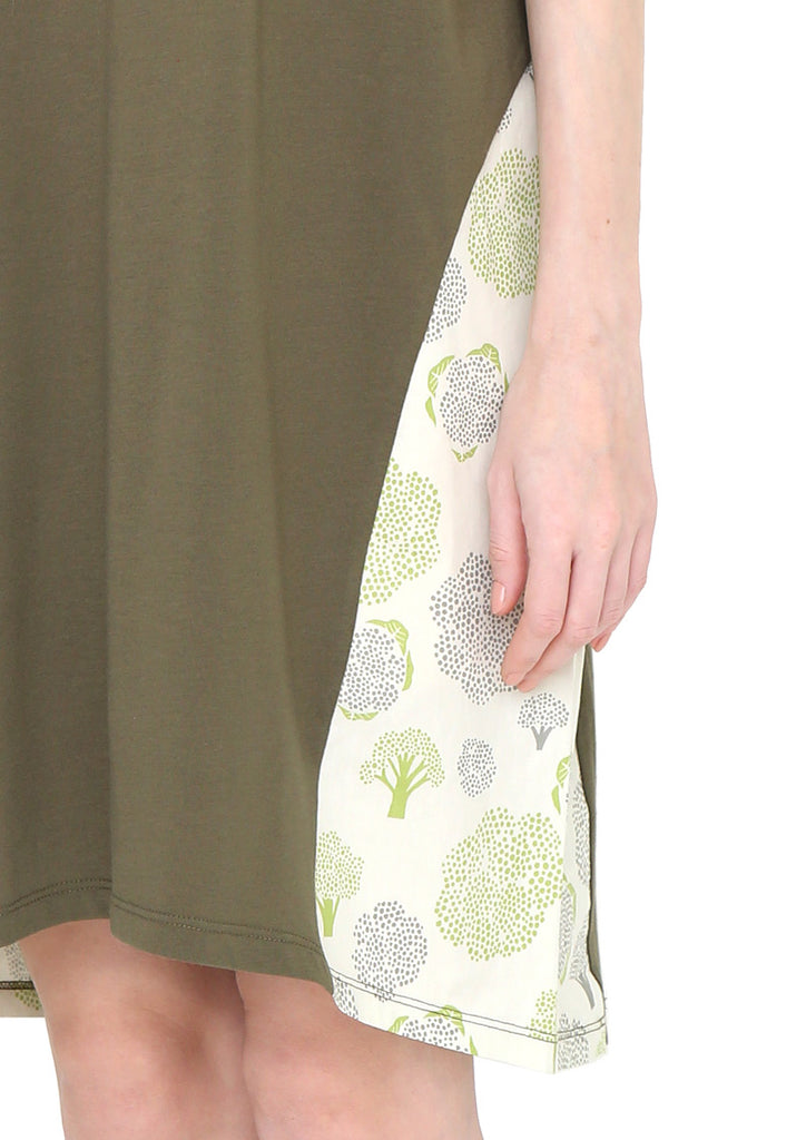 Side Print Loose Fit One-Piece (Broccoli Dot)