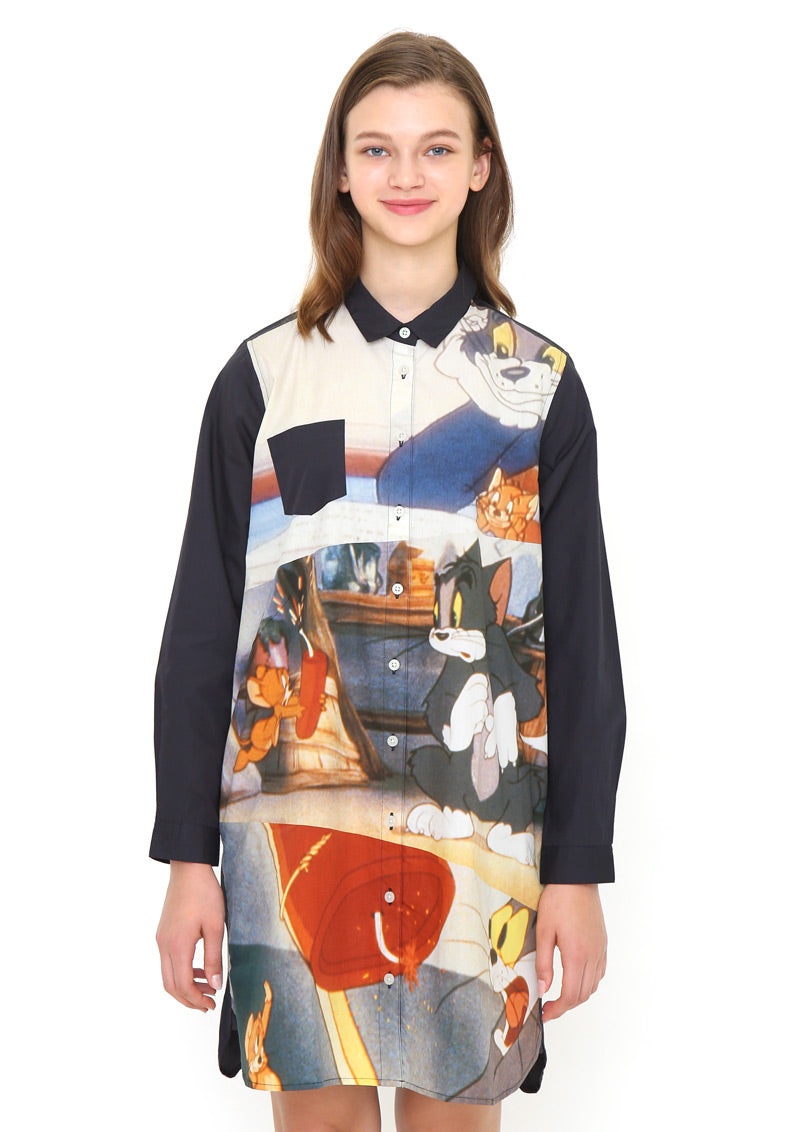 Tom and Jerry Long Sleeve Shirt One-Piece (Tom and Jerry_Dynamite)