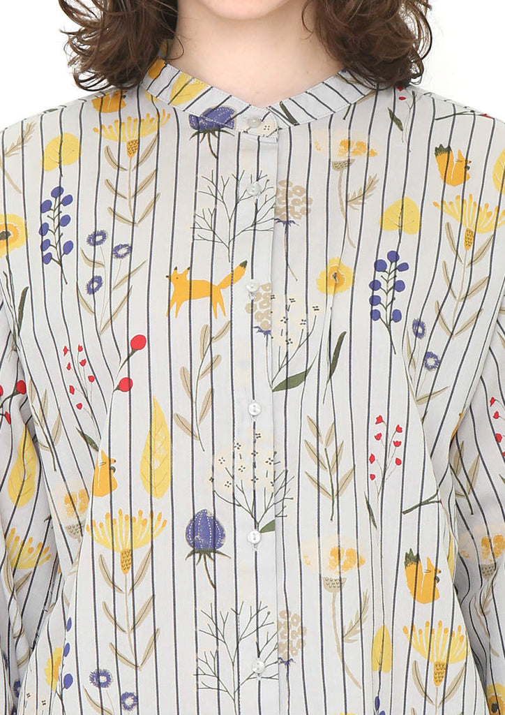Volume Long Sleeve Shirt (Dried Flowers)