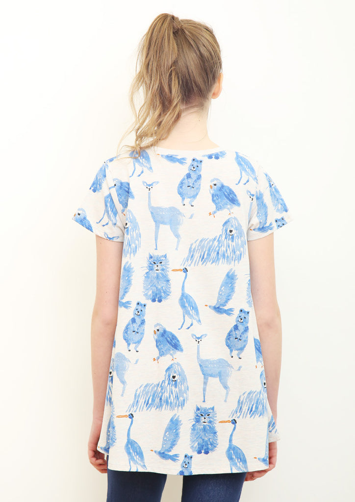 A Line Short Sleeve Tunic (Favorite Animals)
