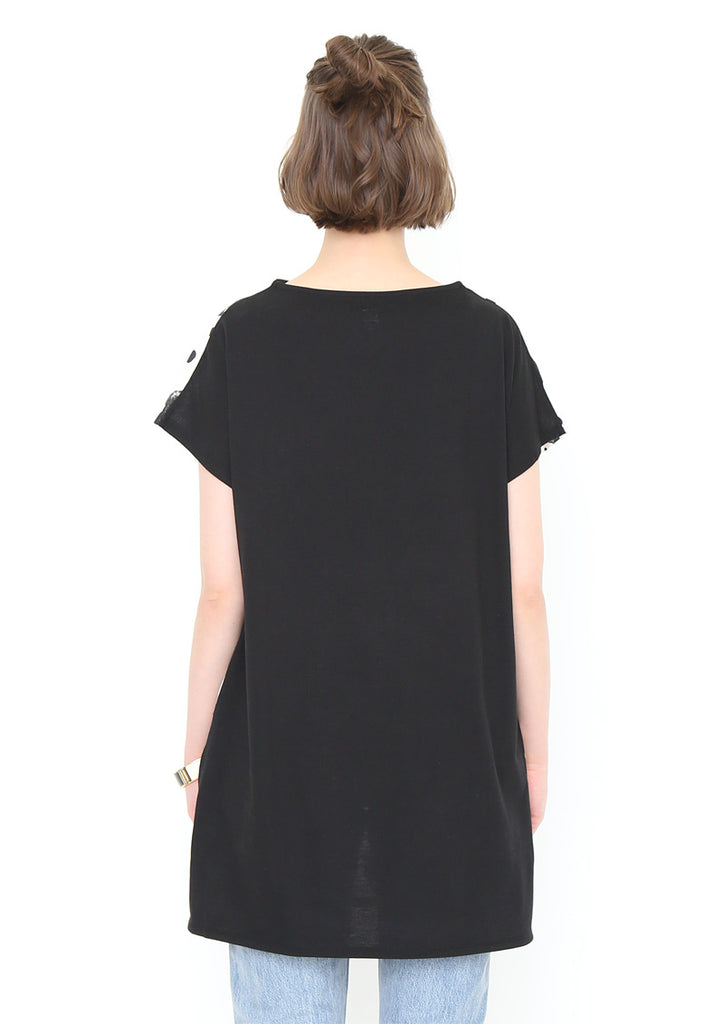 Bottle Neck Short Sleeve One-Piece (Manta Ray Dot)