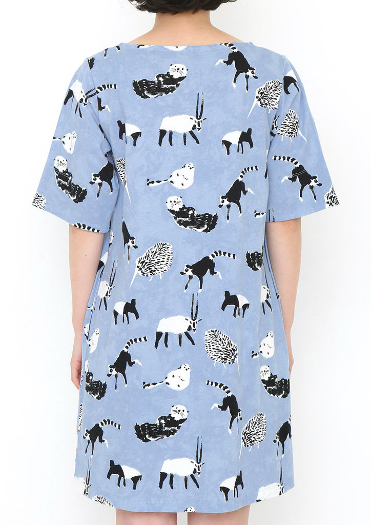 Multi Pattern Cotton Half Sleeve One-Piece (Precious Animals)