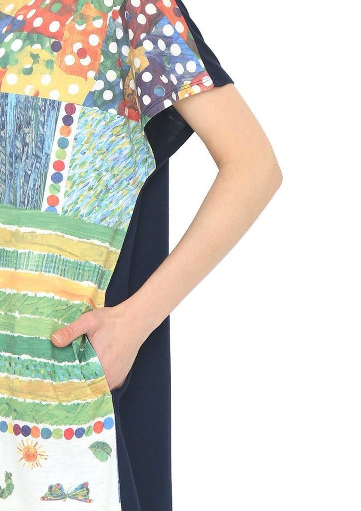 Eric Carle Round Neck Short Sleeve One-Piece A (Eric Carle_Collage Pattern)