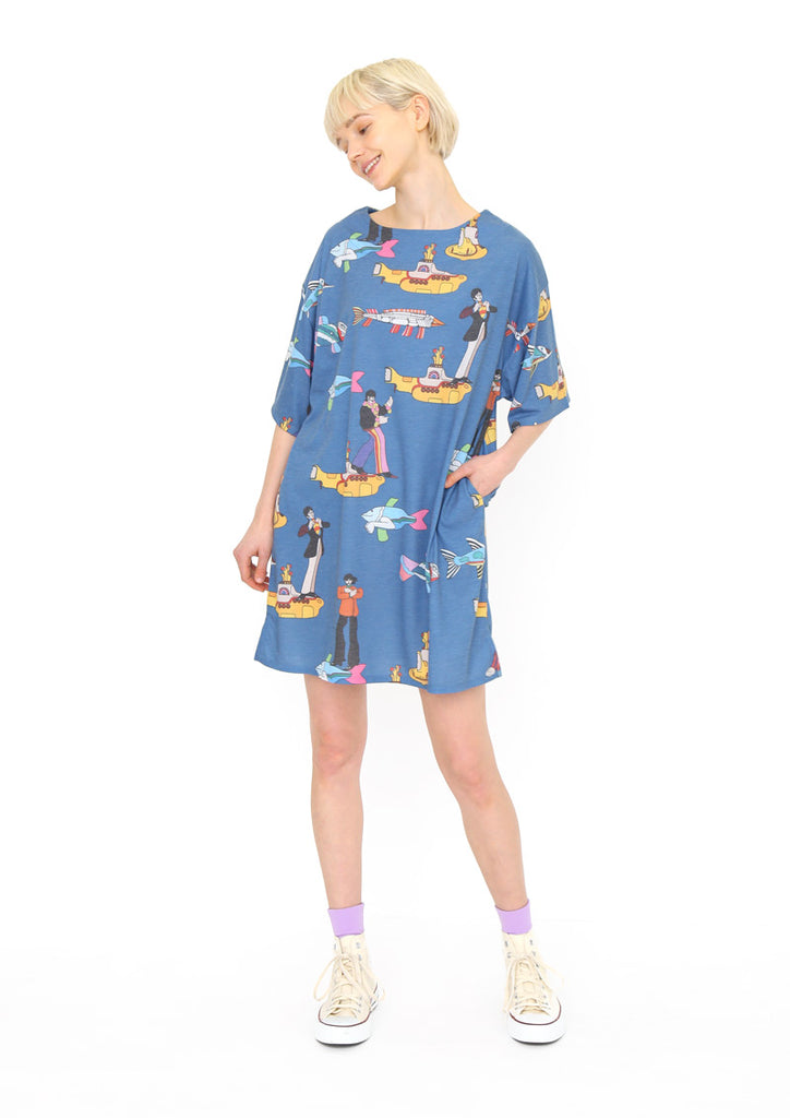 The Beatles Half Sleeve One-Piece (The Beatles_Yellow Submarine Colorful Pattern)