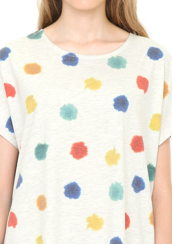 Jenni Rope Short Sleeve One-Piece (Jenni Rope_Painting Dots)