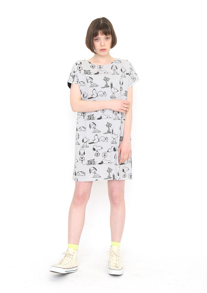 Peanuts Short Sleeve One-Piece (Peanuts_Snoopy and Faron Pattern)