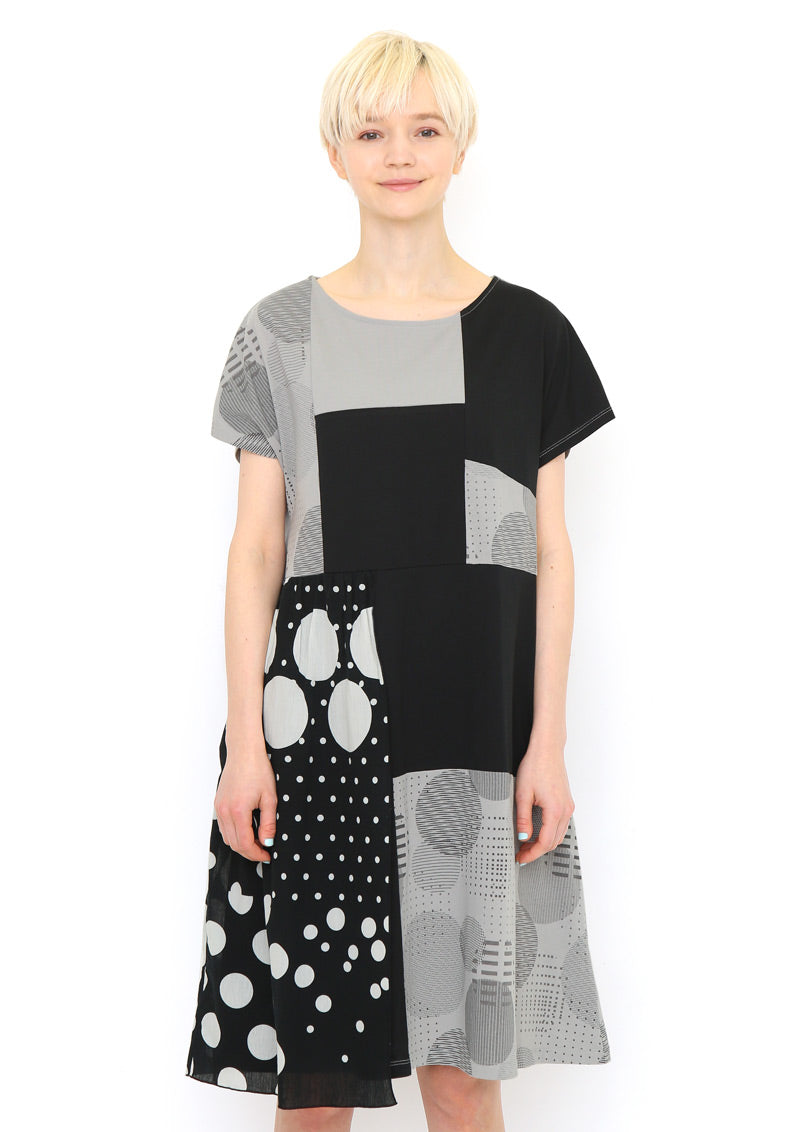 Patchwork Half sleeve One-Piece (Bubble Blower)