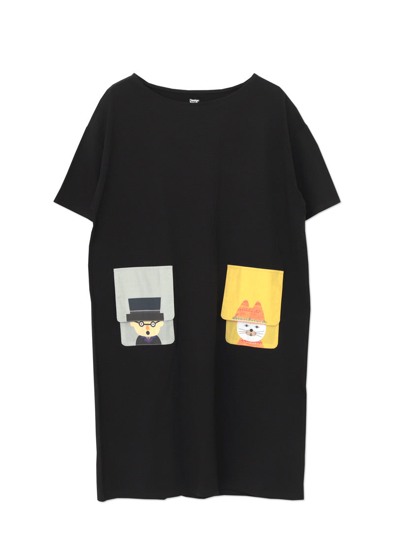 tupera tupera Short Sleeve One-Piece (tupera tupera_Doctor and Cat)