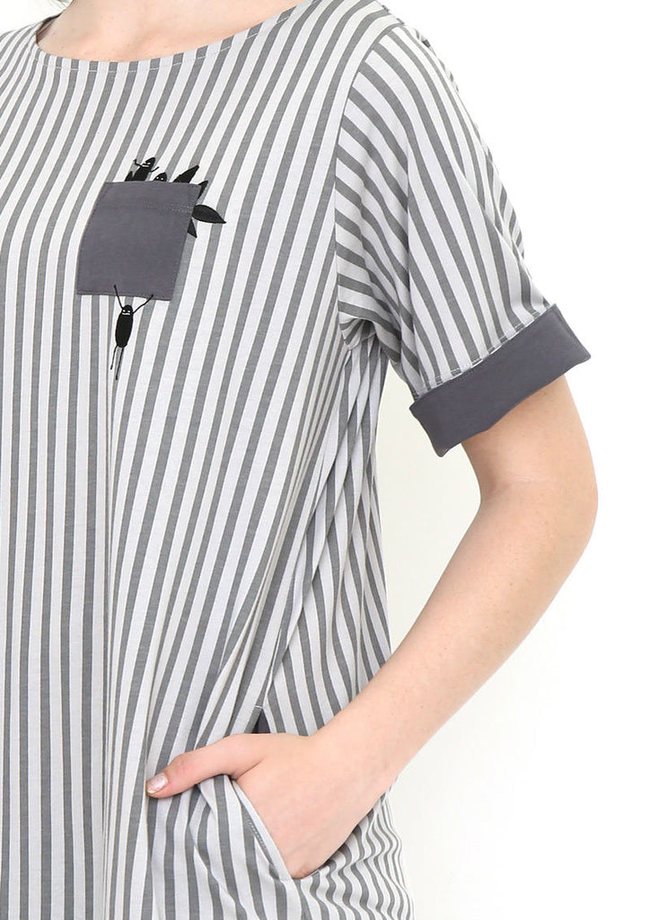 Cotton Half Sleeve One-Piece (BS Playing Leaf)
