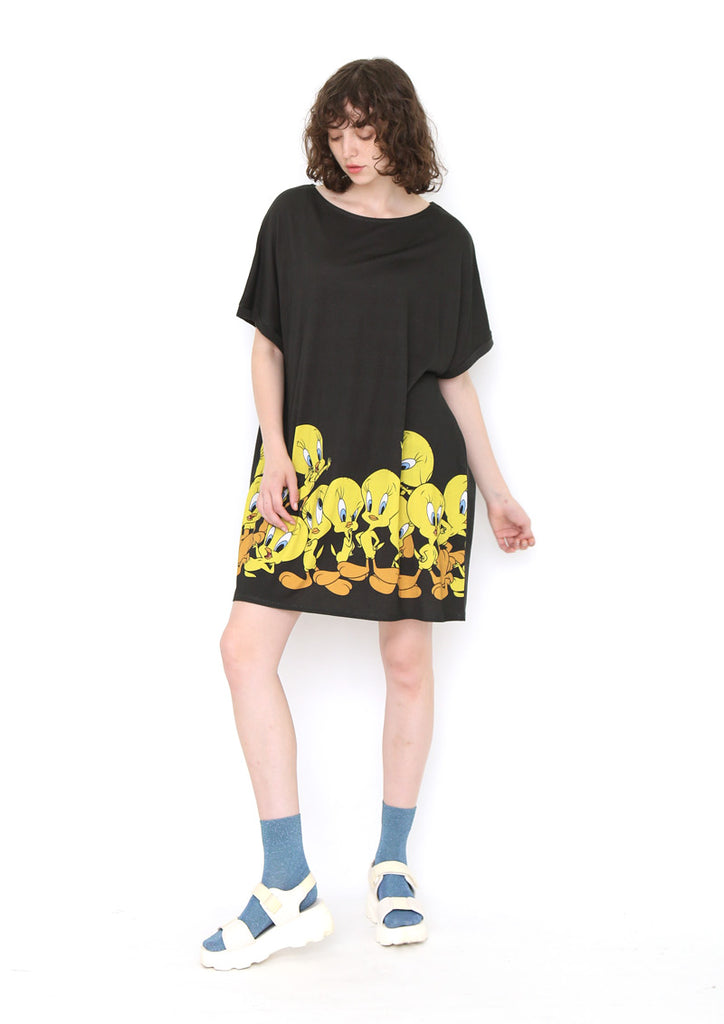 Looney Tunes Short Sleeve One-Piece (Looney Tunes_Tweety Pattern)