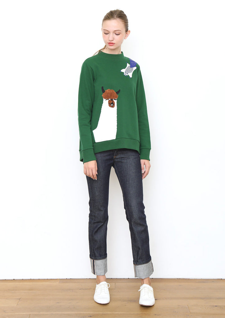 Animals Long Sleeve Sweat Tunic B (Sourpuss Llama)