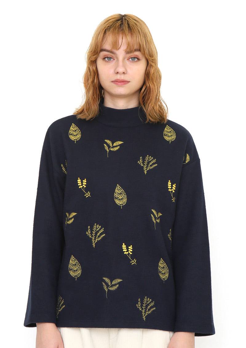 Long Sleeve High Neck Top (With Herbs)