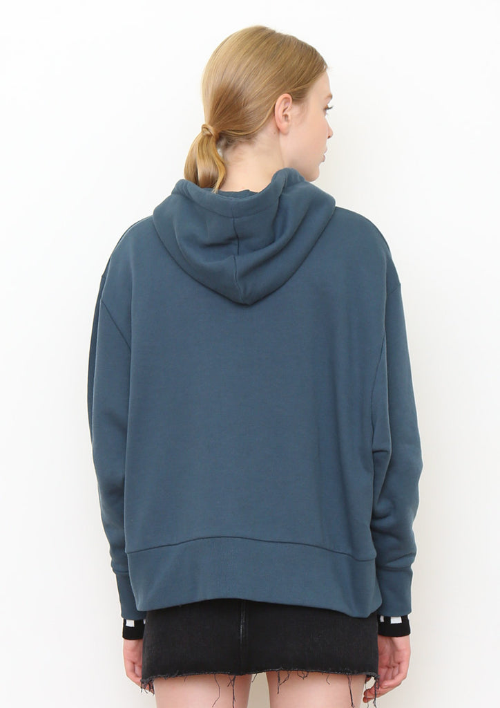 Dolman Sleeve Sweat Zip Hoodie (Yes or No)
