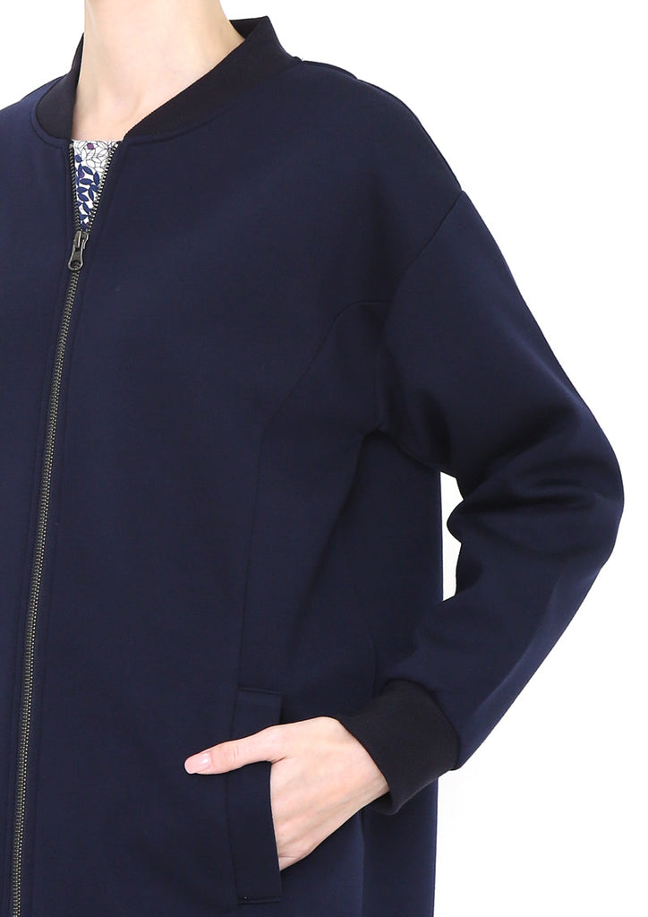 Long Zip Blouson (Layered Forest)
