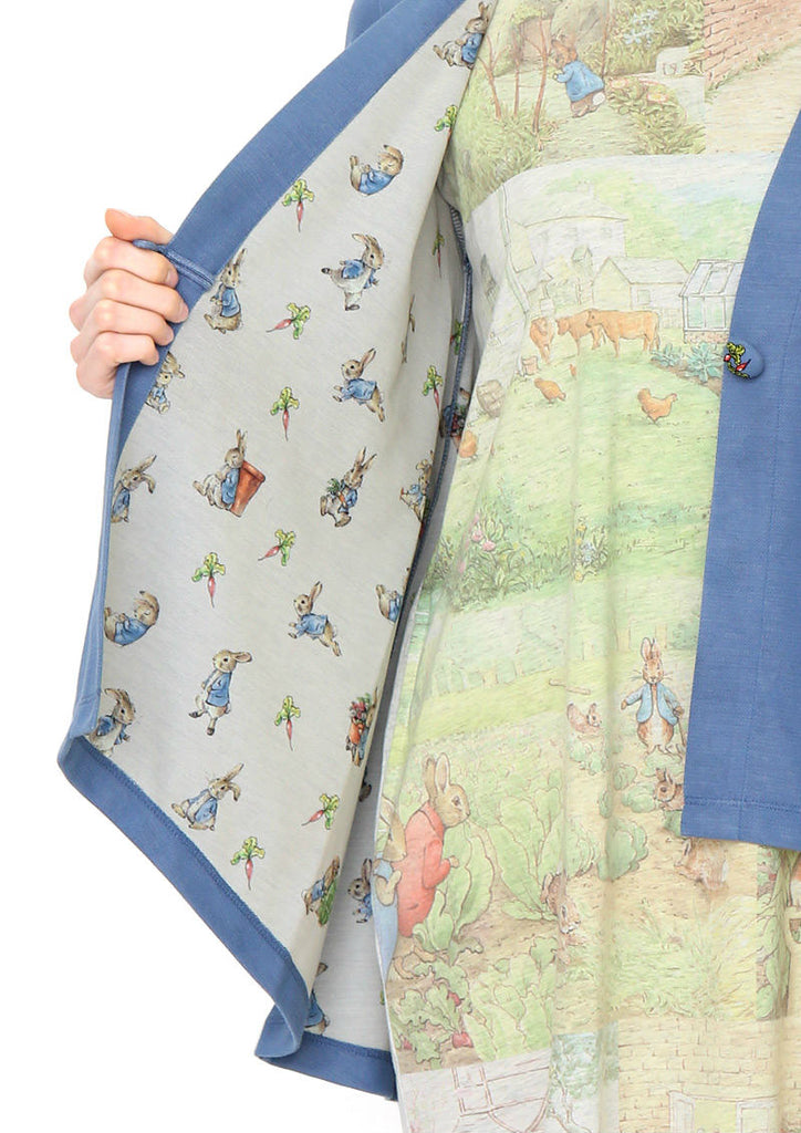 Peter Rabbit Flare Long Sleeve Cardigan (Peter RabbitTM_Peter Pattern)