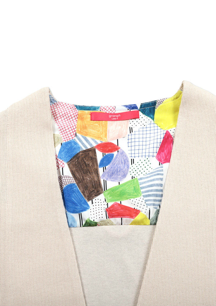 Long Sleeve Cardigan (Abstract City)