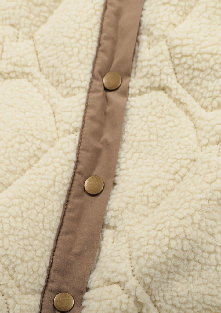 Reversible Quilting Boa Jacket (Summer Night)
