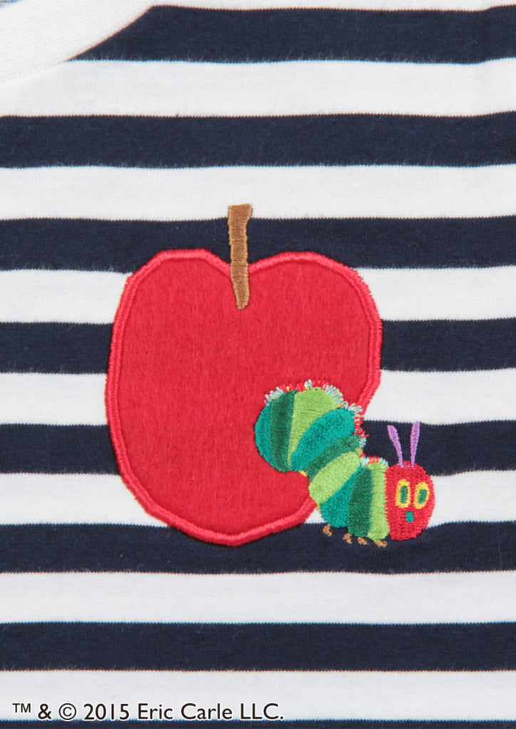 Red Apple Embroidery (Eric Carle Border Short Sleeve)