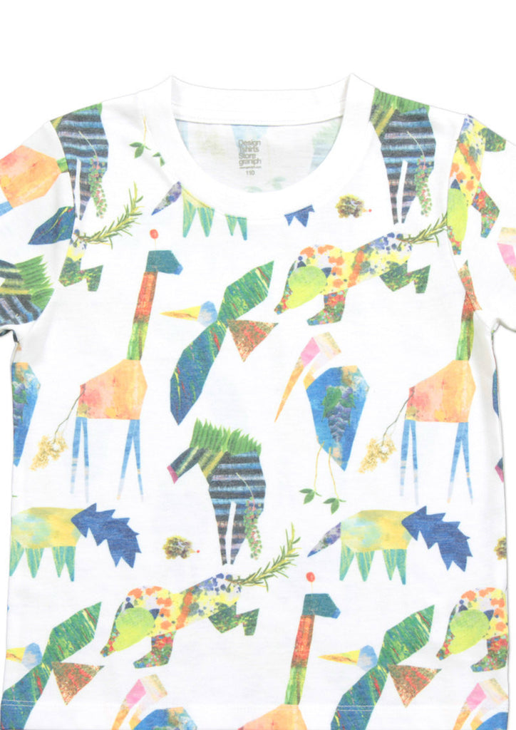 Multi Pattern Short Sleeve Tee B (Animal Garden)