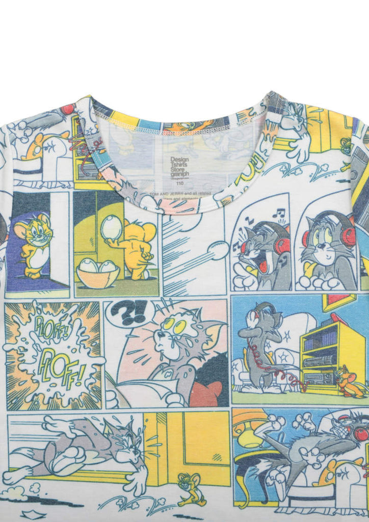 Tom and Jerry Short Sleeve Tee B (Comic Pattern)