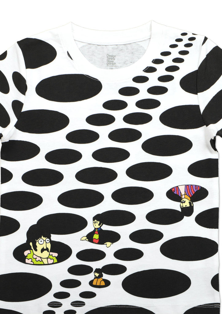 The Beatles Short Sleeve Tee (The Beatles_Yellow Submarine Dots)