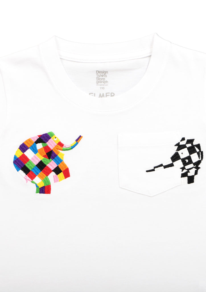 ELMER THE PATCHWORK ELEPHANT Pocket Short Sleeve Tee (ELMER THE PATCHWORK ELEPHANT_Wilbur Pocket)