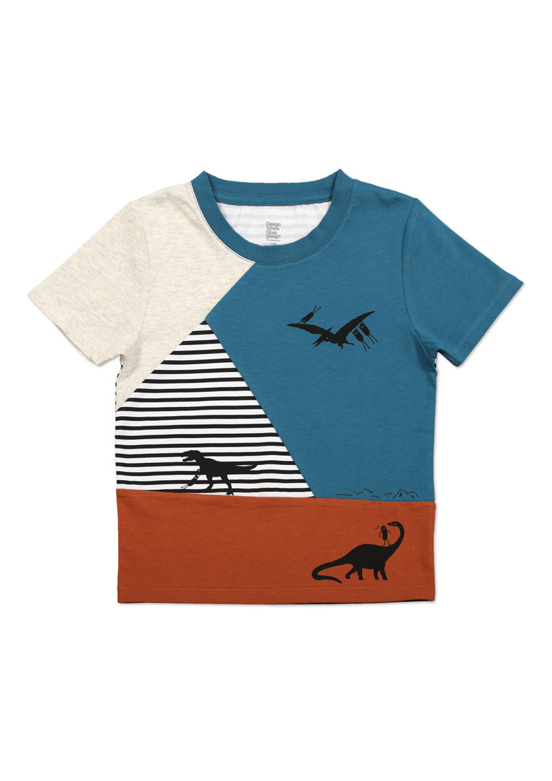 Switching Short Sleeve Tee (BS playing with Dinosaur)