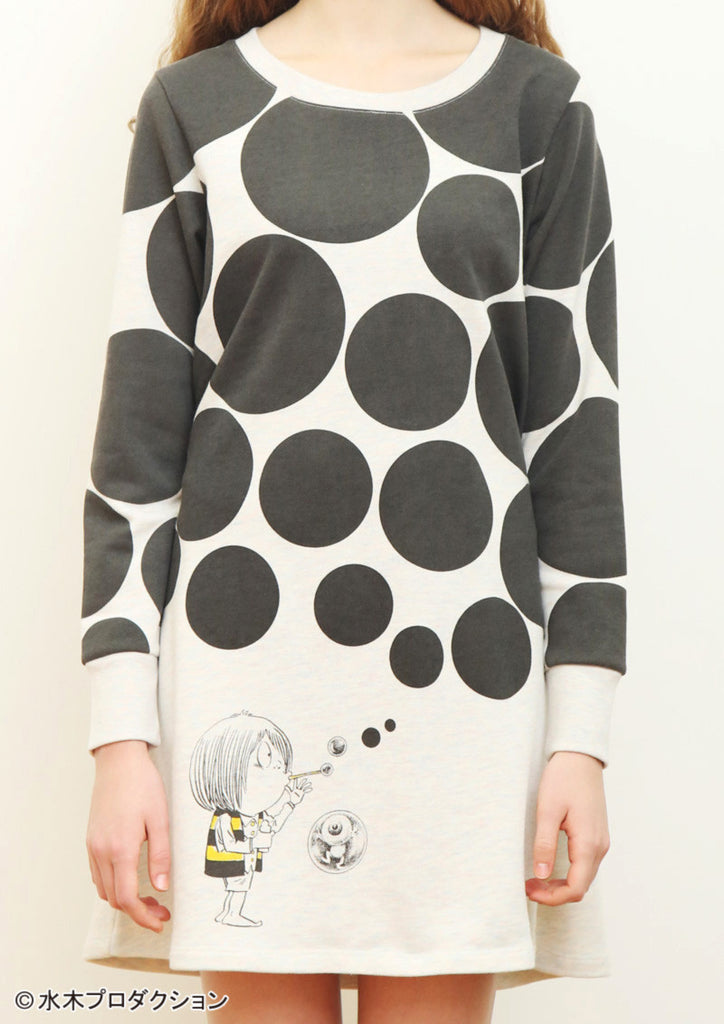 Kitaro and Bubbles (GeGeGe no Kitaro Long Sleeve Sweat One-Piece)