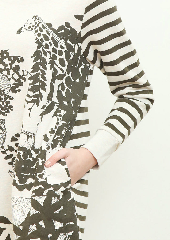 Long Sleeve Sweat One-Piece (In the Forest)