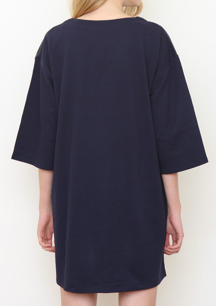 Middle Sleeve Sweat One-Piece (Birds in the Night)