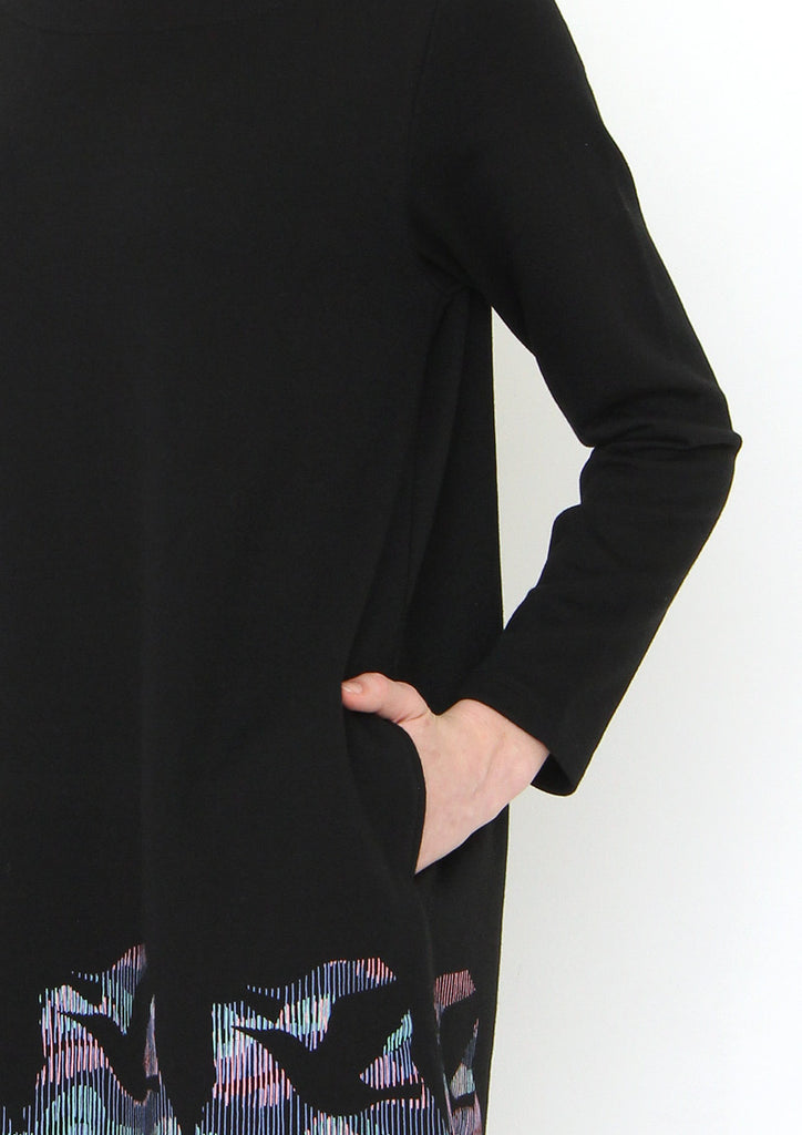 Boat Neck Long Sleeve Sweat One-Piece (Birds of Passage)