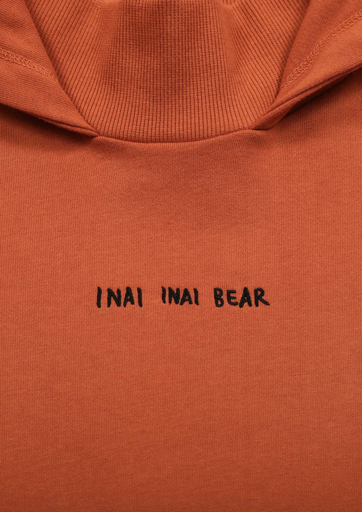 High Neck Long Sleeve Sweat Parka One-Piece (Inai Inai Bear)
