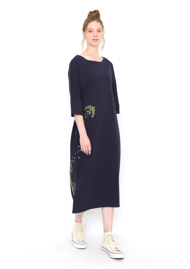 A Line Middle Sleeve One-Piece (Natural World)