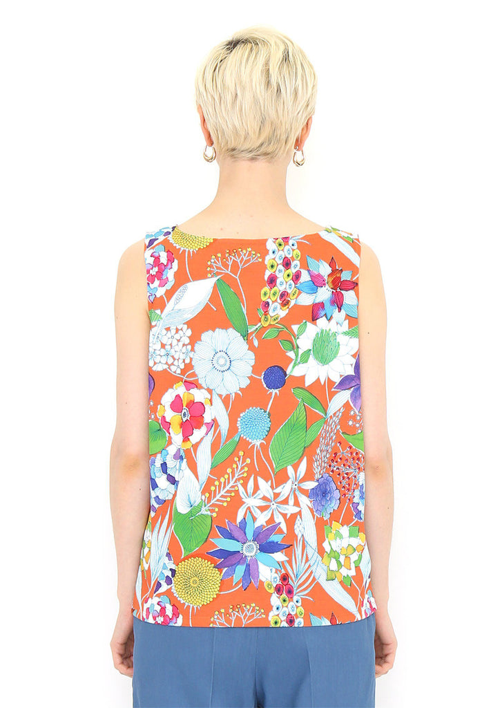 Multi Pattern Dry Mix Tank Top (Showy Flowers)