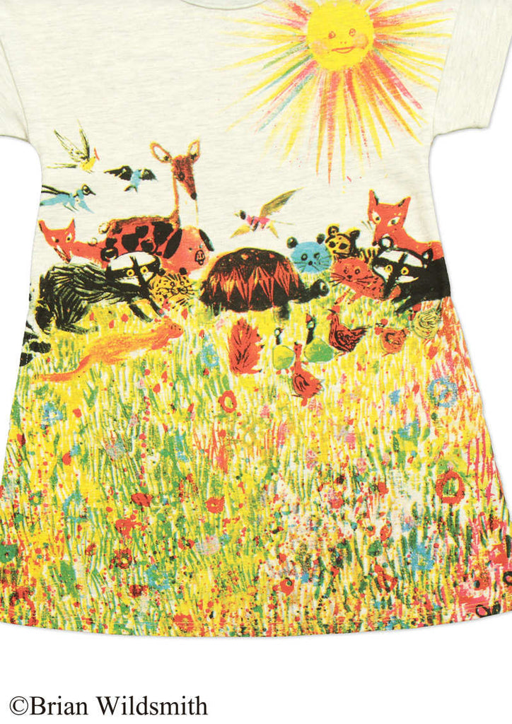 Animals and Sun (Brian Wildsmith Short Sleeve One-Piece)