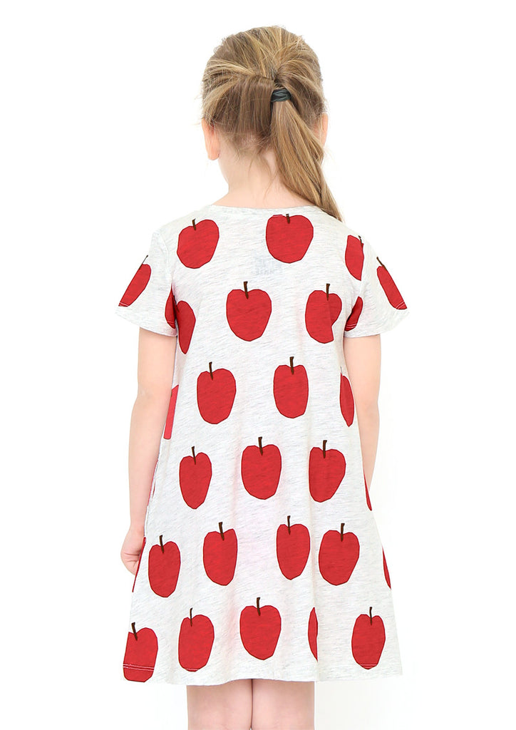 Eric Carle A Line Short Sleeve One-Piece (Eric Carle_Apple Pattern)