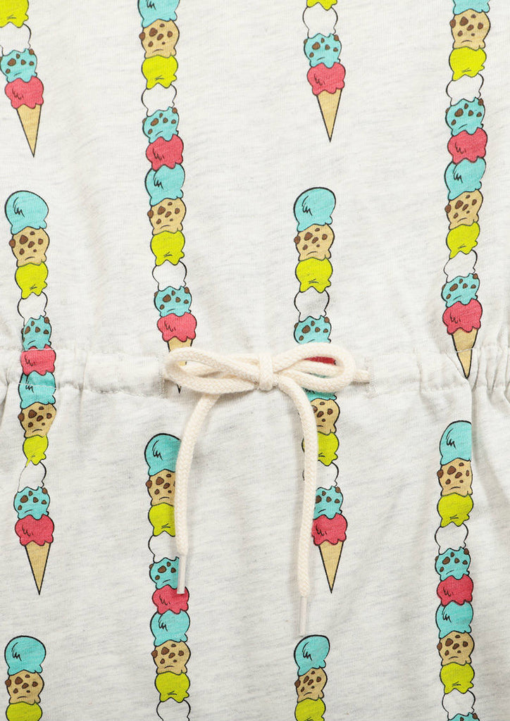Tom and Jerry Waist Gather Short Sleeve One-Piece (Tom and Jerry_Ice Cream)