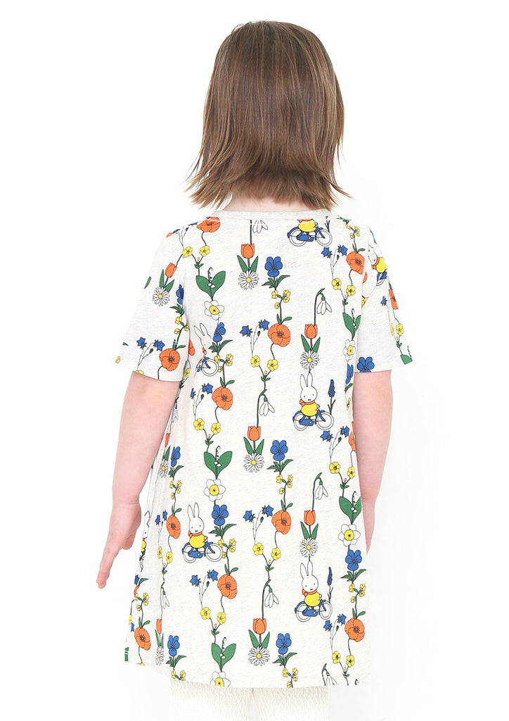 miffy A Line Half Sleeve One-Piece (miffy_Flower and miffy)