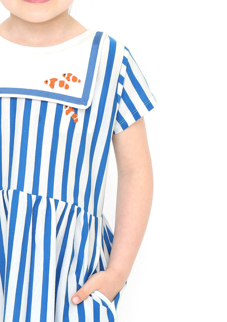 Sailor Collar Short Sleeve One-Piece (Clown Fish)