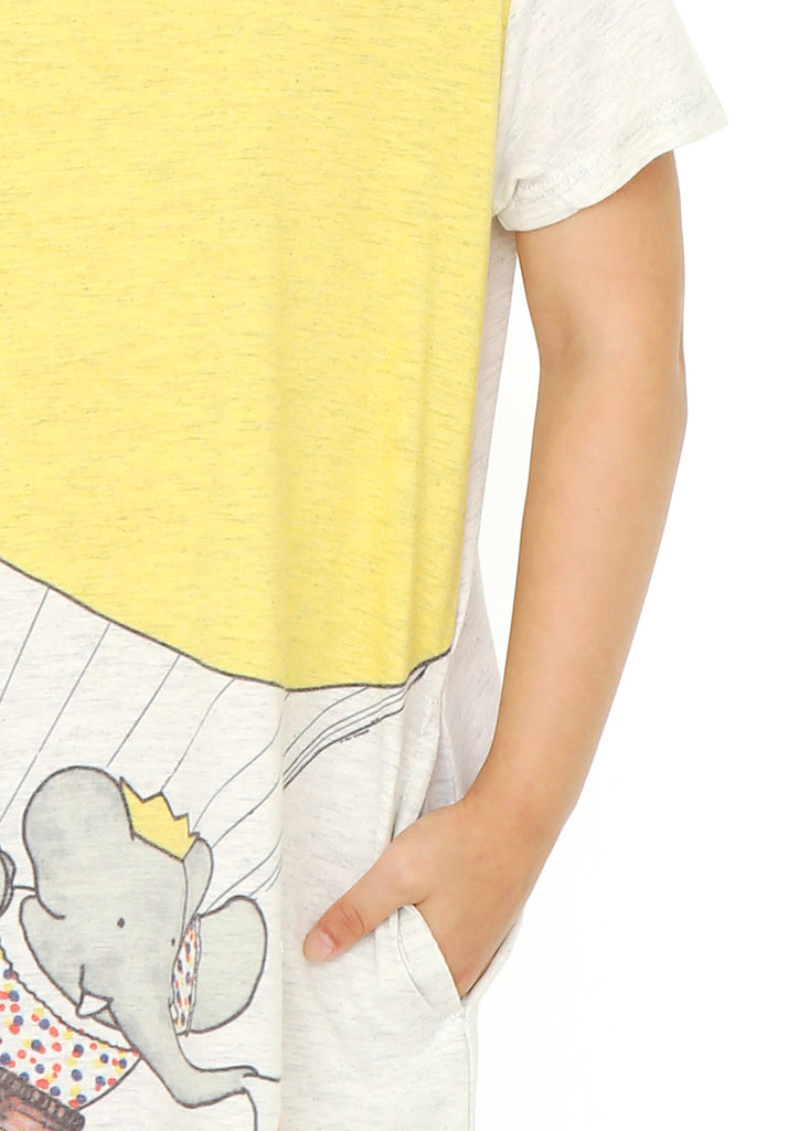 BABAR A Line Short Sleeve One-Piece (BABAR_Honeymoon)