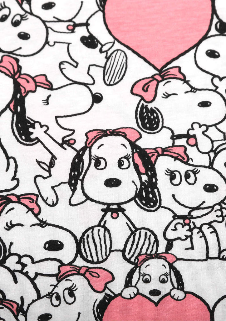 Peanuts Short Sleeve One-Piece (Peanuts_Belle Pattern)
