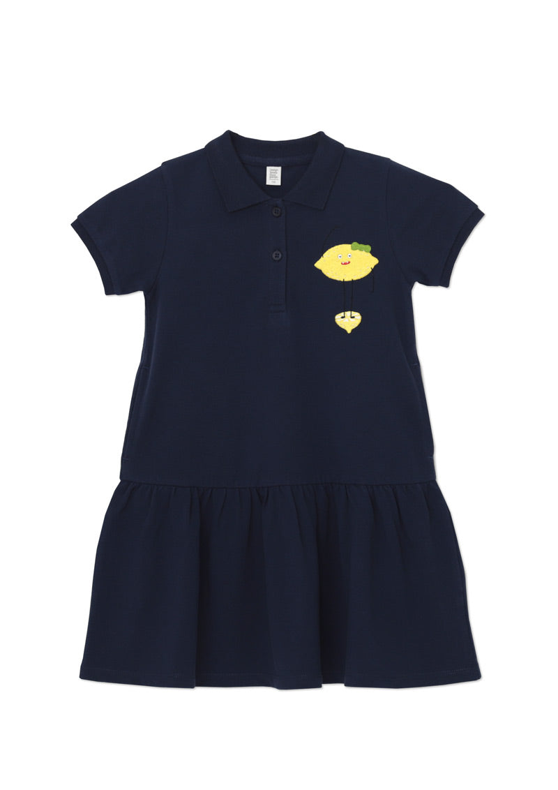 Short Sleeve Polo One-Piece (Fruit Monsters)