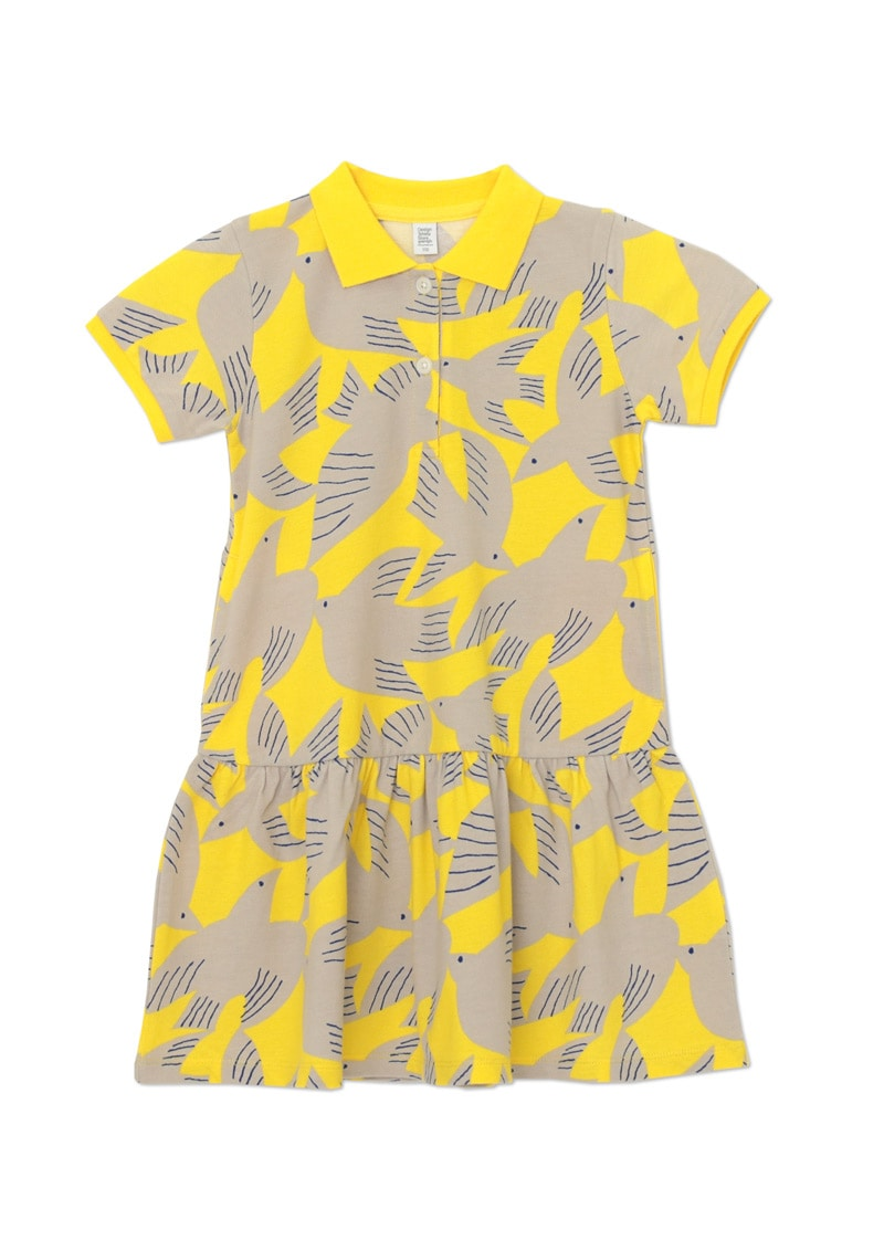 Short Sleeve Polo One-Piece (Bird Flies)