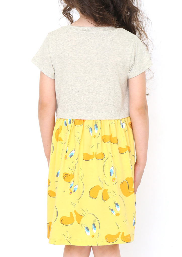 Looney Tunes Layered Short Sleeve One-Piece (Looney Tunes_Tweety Swing)