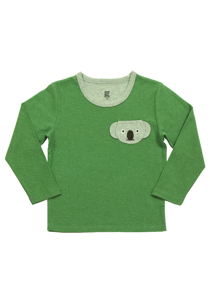 Plating Animal Pocket Long Sleeve Tee (Pocket Koala)