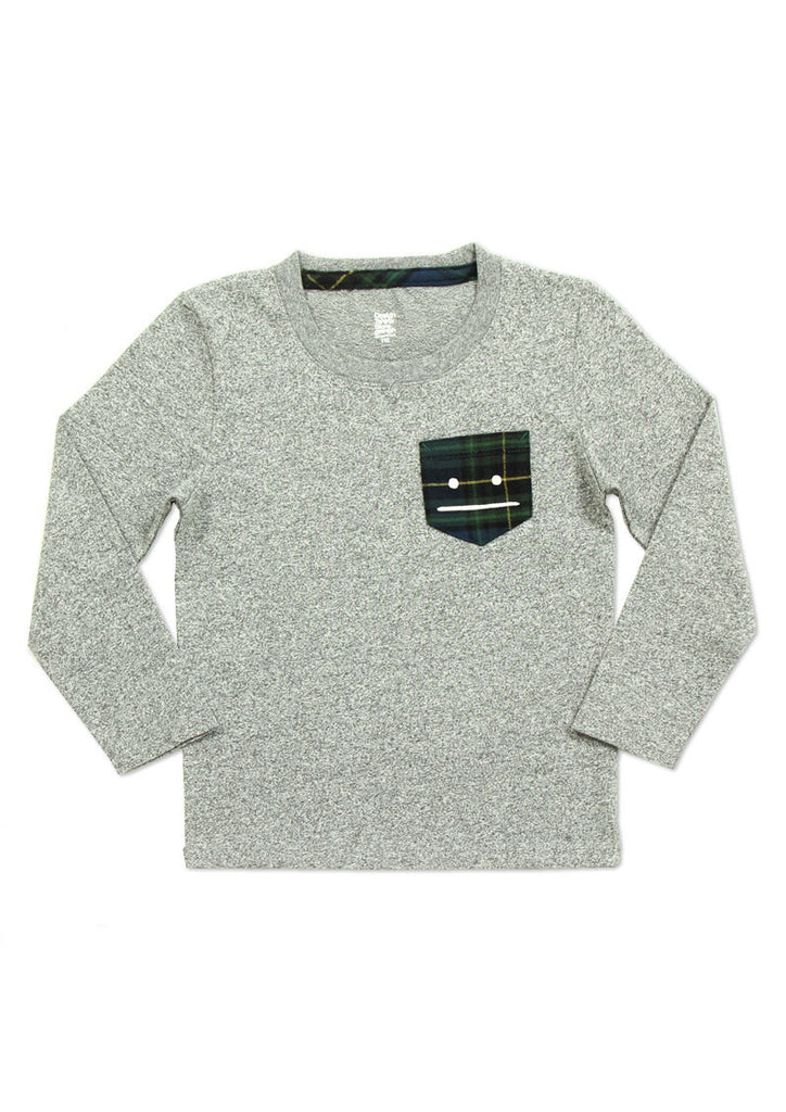 Check Pocket Long Sleeve Tee (BS Zoom)