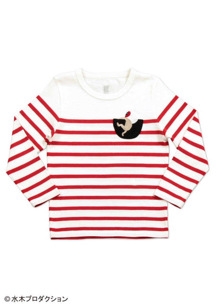 Medama Oyaji and Cup (GeGeGe no Kitaro Long Sleeve Tee)