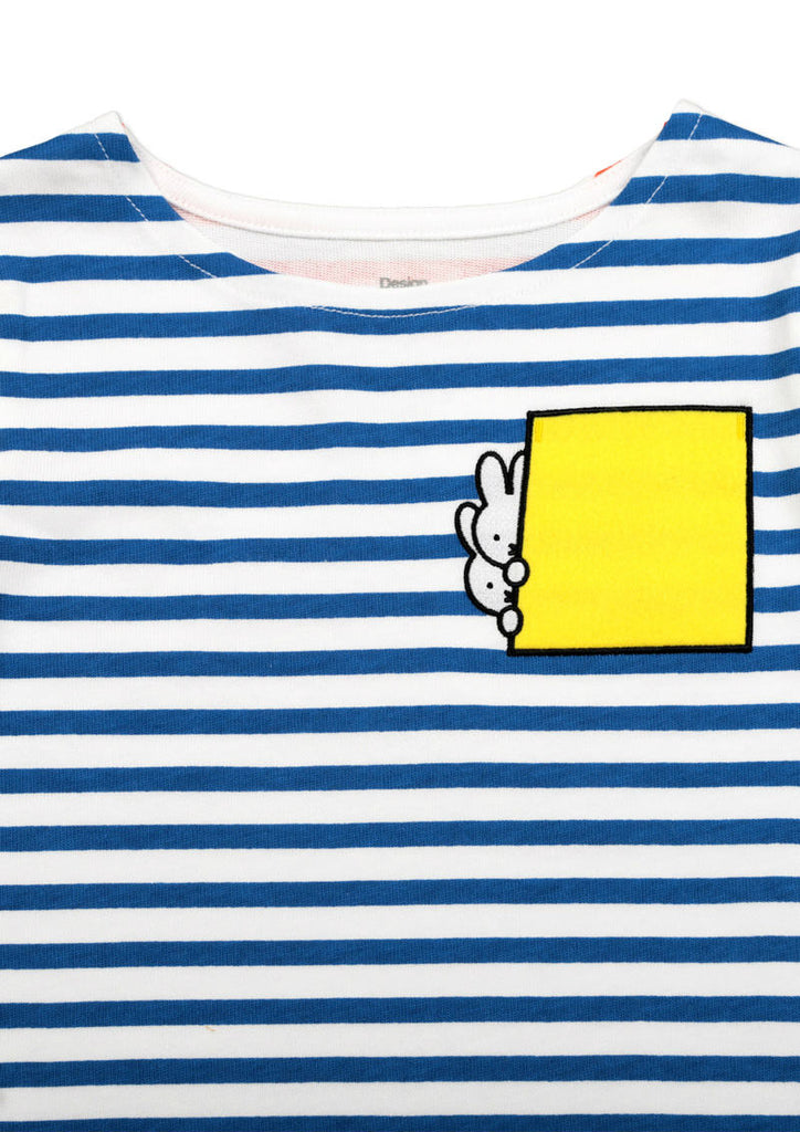 miffy Boat Neck Border Long Sleeve Tee (miffy_miffy Stripe)