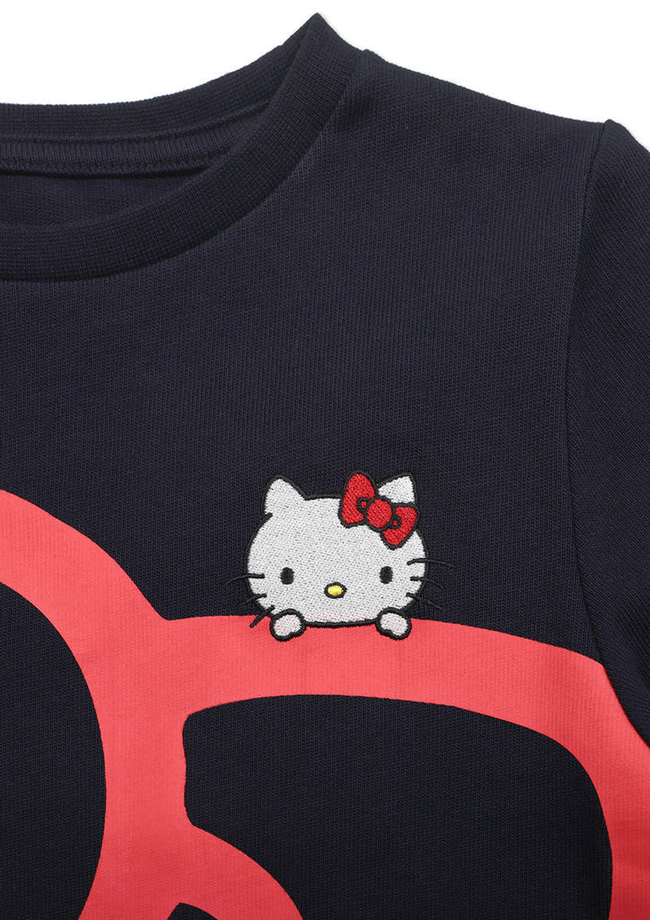 Sanrio characters Long Sleeve One-Piece (Sanrio characters_Hello Kitty Ribbon)