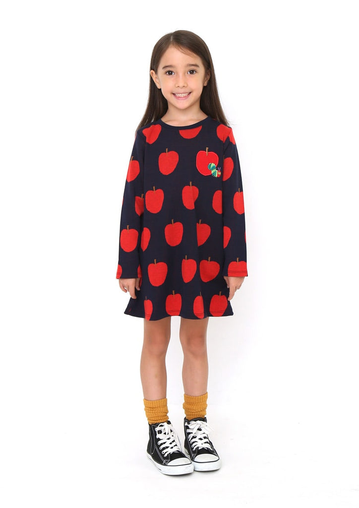 Eric Carle Jacquard Long Sleeve One-Piece (Eric Carle_Apple Pattern)